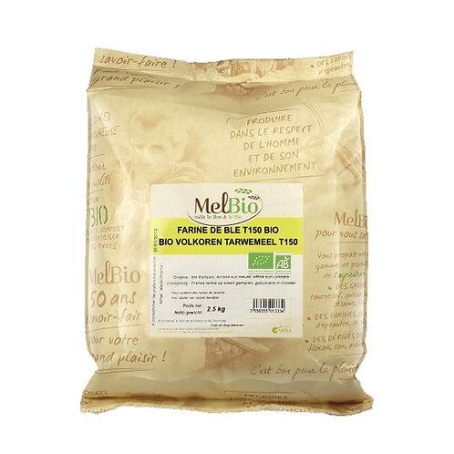 MELBIO Farine de blé intégrale (T150) 2.5 kg bio