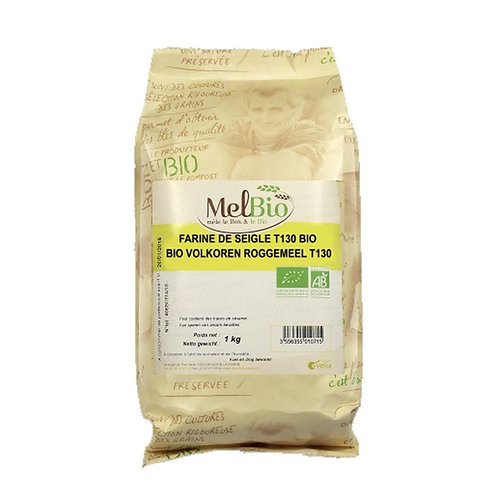 MELBIO Farine de seigle grise (T130) 1 kg bio