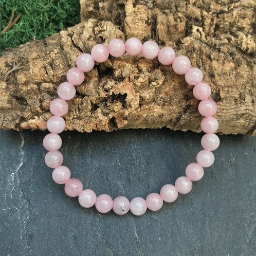 Bracelet Quartz Rose Perles 6 mm