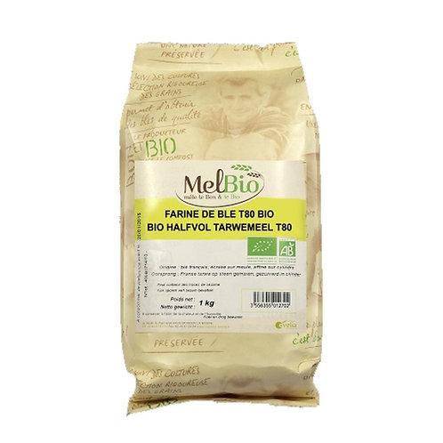 MELBIO Farine de blé bise (T80) 1 kg bio