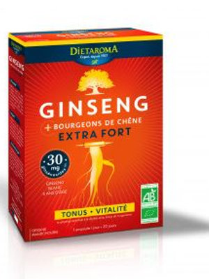 Ginseng + bourgeons de chêne extra fort 20 ampoules
