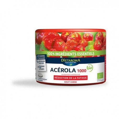 Acérola 1000 Bio Goût cerise 60 compr promo + 20 %