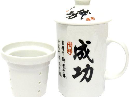 mug Théière porcelaine signe chinois succes
