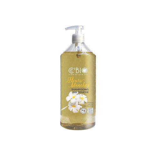 Shampooing fleurs blanches 500 ml Cébio