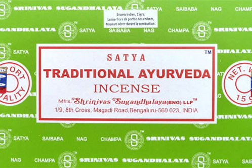 Encens Satya Traditional Ayurveda 15 g
