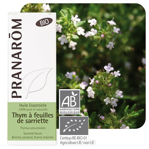 Huile essentielle Thym à feuilles de sarriette Bio 10 ml