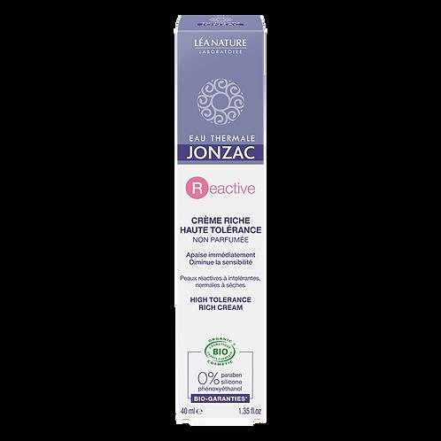 REactive - Crème riche haute tolérance bio - 40 ml Jonzac