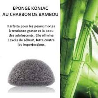 Eponge KONJAC Charbon de Bambou Sun & Sia