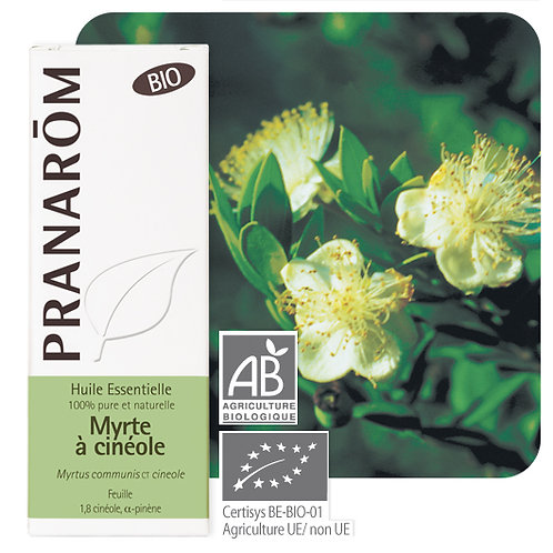 Huile essentielle Myrte à cinéole - feuille BIO 5 ml
