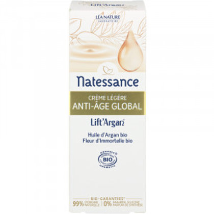 Crème légère bio Anti-âge global 50 ml