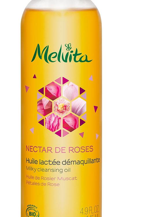 Nectar de rose huile lactée démaquillante 145ML