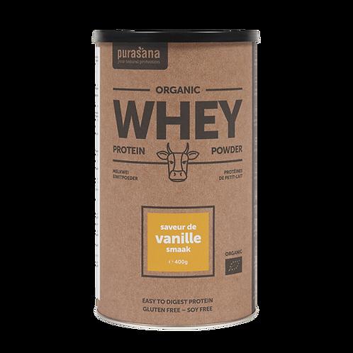 Protéines de petit-lait vanille Bio 400 gr