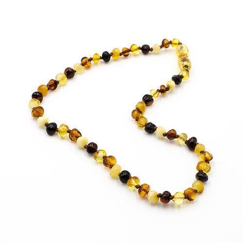 Collier Ambre Bébé Perles Baroques - Multicolore