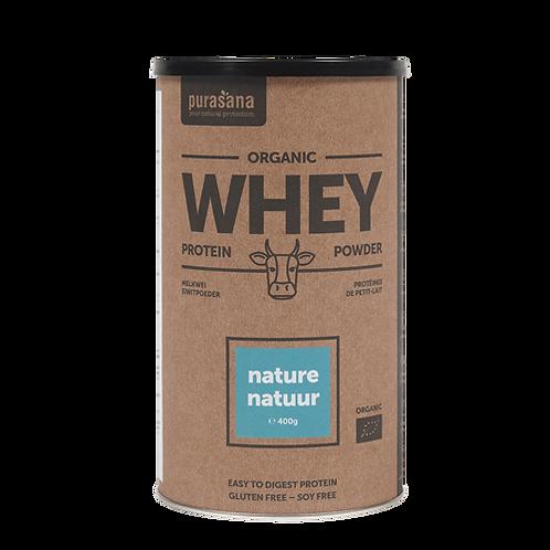 Protéines de petit-lait naturel Bio 400 gr (80% de protéines)