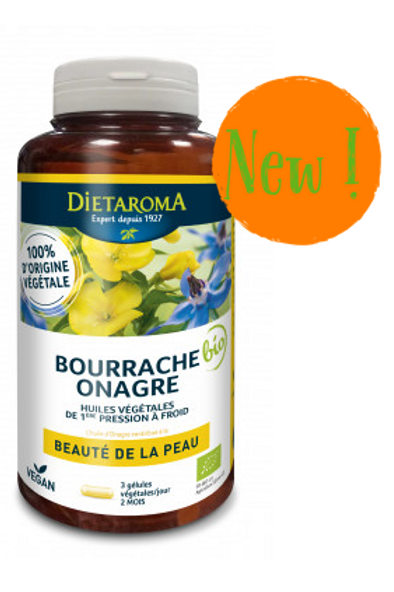 BIO ONAGRE + BOURRACHE Huile 510 mg 60 caps