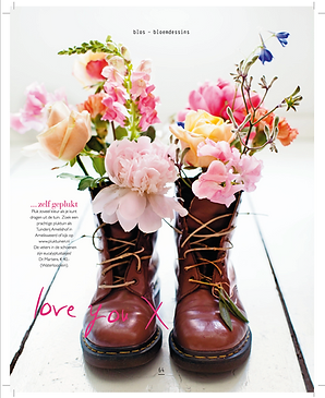 Flower shoes blos magazine libelle peony rose