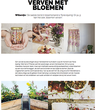 Painting Elin wanderlust DIY flowers willemijn franska
