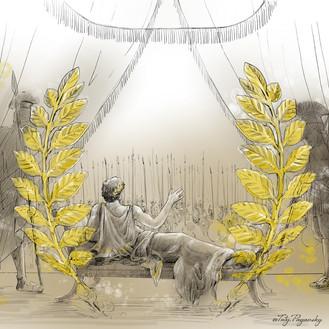 Александр прощается с войском. Таис Афин