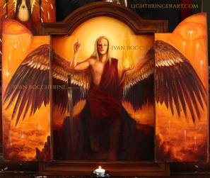 Angel folding shrine open