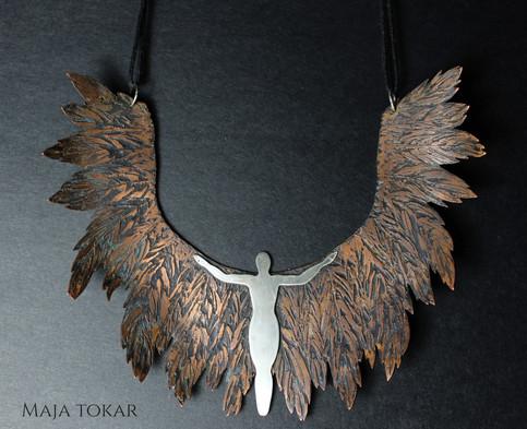 Angel neckpiece Copper & Silver