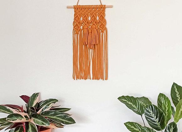 Yala Tassels macrame wall hanging Mustard / Ready to Ship