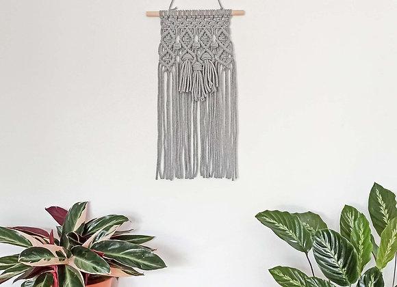 Yala Tassels macrame wall hanging Light Grey / Ready to Ship