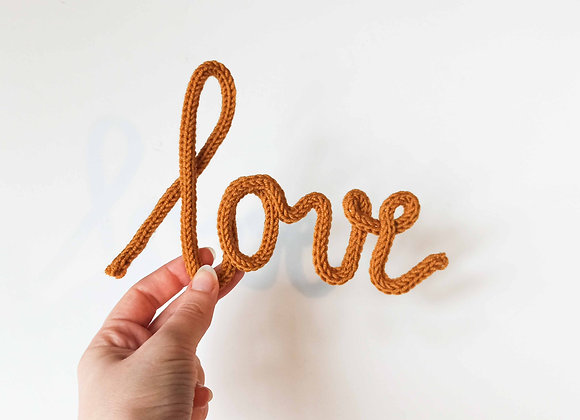 Knitted Motivational Words - Love