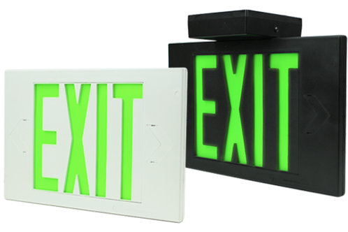 White Exit Sign, Double Sided, AC Only