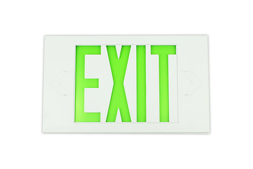White Exit Sign, Single Sided, Battery Backup