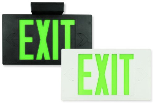 Black Exit Sign, Single Sided, Battery Backup
