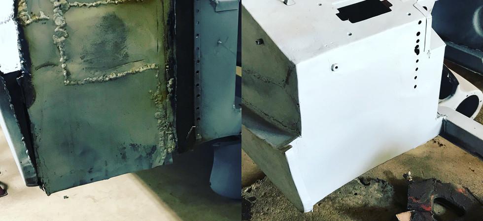 MG Midget footwell repair