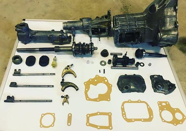 One of three Morris Minor 1098 gearbox's
