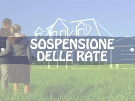 Sospensione rate mutui prima casa per emergenza sanitaria