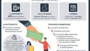 Regione Piemonte - Contributi per lavoratori in disagio economico senza ammortizzatori
