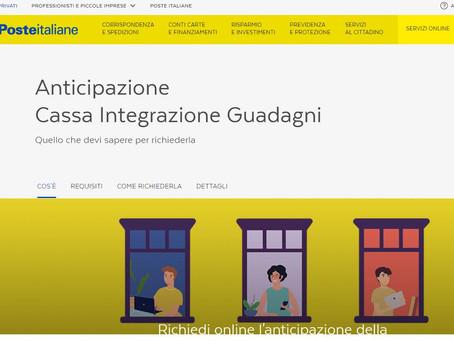 Anticipo della Cassa Integrazione per i clienti Poste Italiane