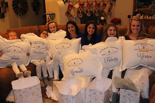 Personalized embroidered pillowcases that is a gift for a princess royalty