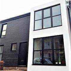 Colour specified polyurea window bay, Bristol