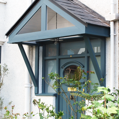 Hand-made porch canopy, Bristol
