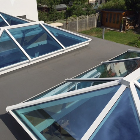 Seamless flat roof, Bristol