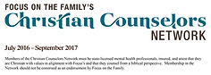 FOCUS ON THE FAMILY'S Christian Counselors Network Member