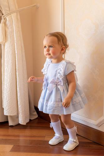 6366808b3 SS19 Dolce Petit Baby Girls Puffball Dress & Knickers - Blue