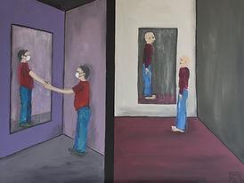 Miroir... mon compagnon - 60 x 80 cm