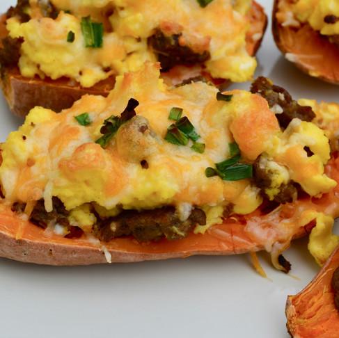 Sweet Potato Breakfast Boat
