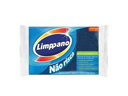 Esponja Limppano Antiaderente Não Risca: Embalagem 1 unidade
