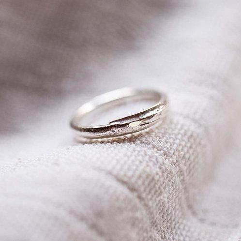 SILVER STRAW ring
