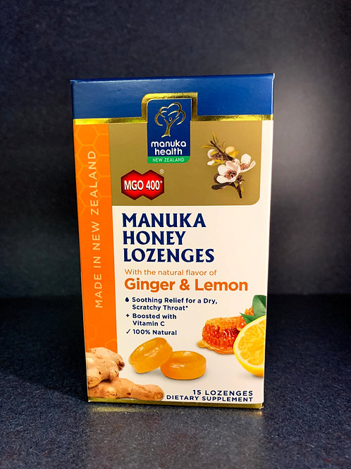 Manuka Honey Ginger & Lemon 15 loz