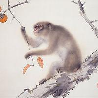 singe estampe japonaise