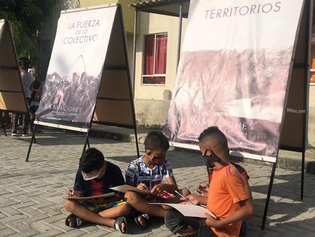 """Exposición sobre el conflicto """"Sanaciones"""" estuvo en Villas de San Pablo en Barranquilla"""