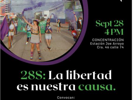 Barranquilla se moviliza por el día global del aborto