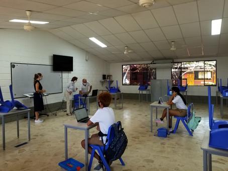 Así fue el regreso de clases de colegios privados en Cartagena